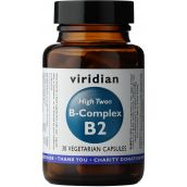 Viridian HIGH TWO Vitamin B2 with B-Complex # 235