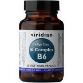 Viridian HIGH SIX Vitamin B6 with B-Complex # 247