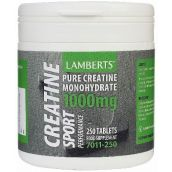 Lamberts Creatine Tablets 1000mg ( 250 Tablets ) # 7011