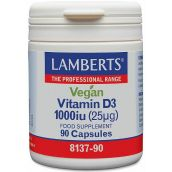 Lamberts Vegan Vitamin D3 1000iu (25mg) 90 Capsules # 8137
