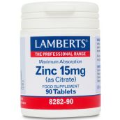 Lamberts Zinc 15mg (as citrate) 90 Tablets # 8282