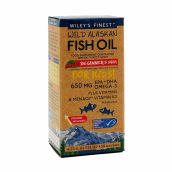 Wiley's Finest Wild Alaskan Fish Oil Beginner's DHA For Kids 650mg