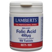 Lamberts Folic Acid 400mg (100 tablets) #8071
