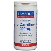 Lamberts L-Carnitine 250mg  (60 Capsules) # 8306