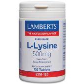 Lamberts L-Lysine 500mg (120 Tablets) # 8316