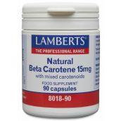 Lamberts Natural Beta Carotene 15mg (90 Capsules) # 8018