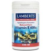 Lamberts Natural Vitamin E 400 i.u.(268 mg)  180 Caps # 8708