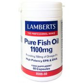 Lamberts Pure Fish Oil 1100mg (EPA 360mg/DHA 240mg) 60 Caps #8508