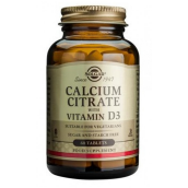 Solgar Calcium Citrate With Vitamin D (60 Tablets) # 430