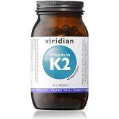 Viridian Vitamin K2 50ug  Veg 90 Caps # 259
